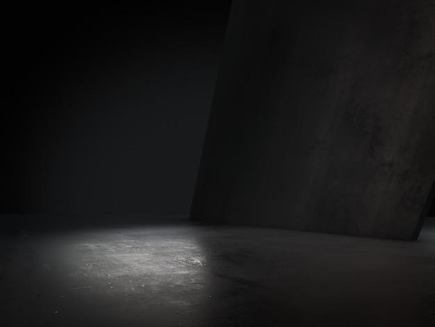 Pusta przestrzeń, produkt prezentuje reflektor na tle. renderowanie 3d