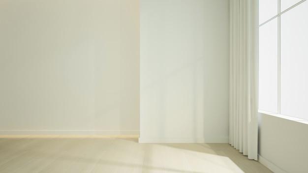 Pusta przestrzeń wnętrza renderowania 3d w hotelu