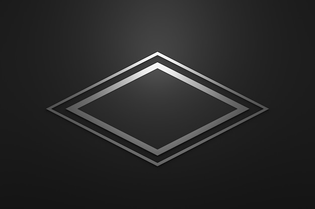 Pusta rama logo z nowoczesnym stylem na czarnym tle.