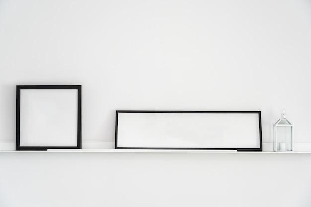 Pusta rama z kopii przestrzeni dekoraci wnętrzem