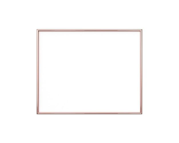 Pusta ramka na białym tle. kwadratowy rozmiar