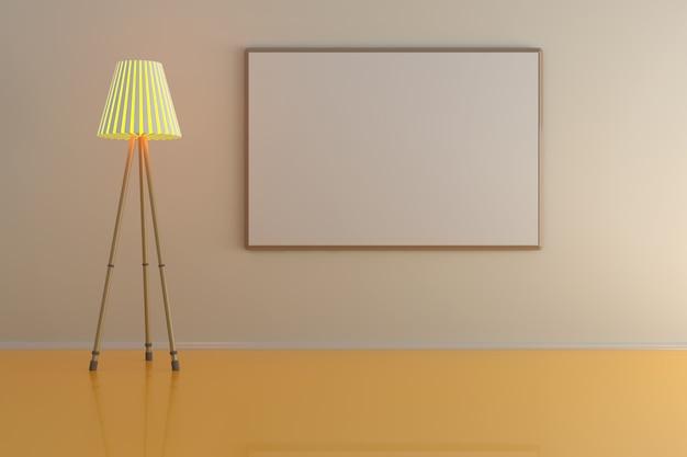 Pusta ramka na zdjęcia przy ścianie