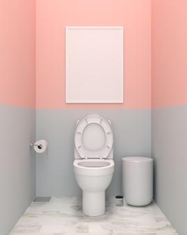 Pusta ramka na zdjęcia w toalecie