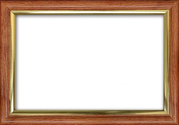 Pusta ramka na zdjęcia z wolnym miejscem wewnątrz, na białym tle