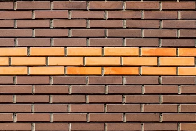 Pusta ściana z cegieł tekstura.