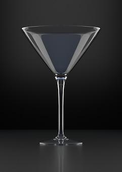 Pusta szklanka martini