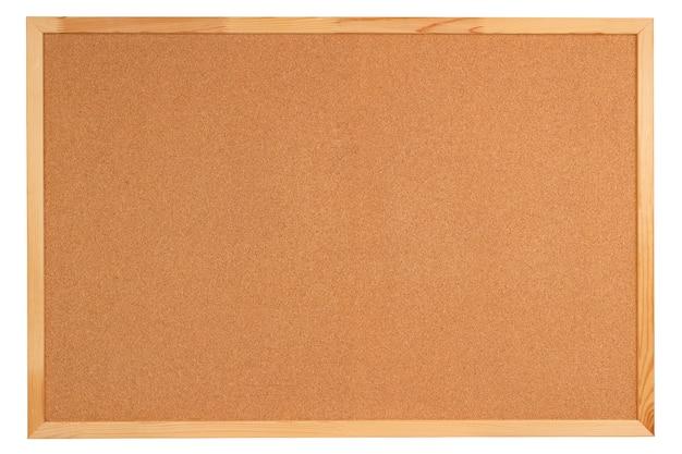 Pusta tablica korkowa z drewnianą ramą