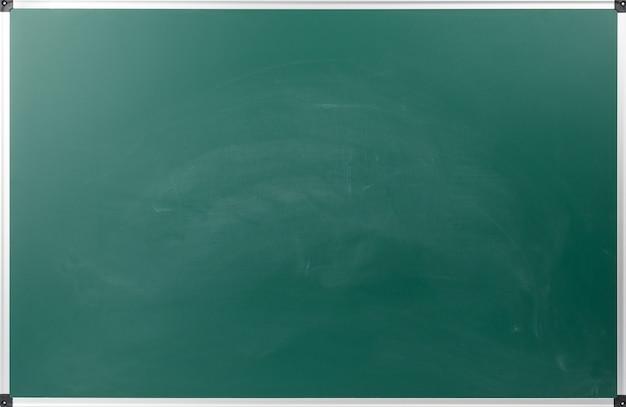 Pusta tablica szkolna zielona kreda z aluminiową ramą, miejsce na kopię