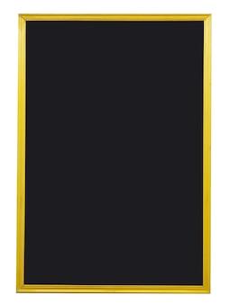 Pusta tablica ze złotą ramą