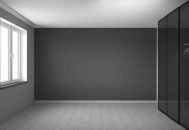 Pusta wizualizacja wnętrza pawilonu ilustracja 3d