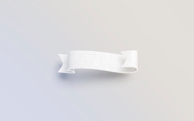 Puste białe banderole na białym tle na szarej powierzchni, renderowania 3d.