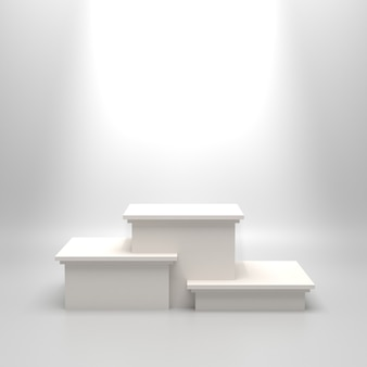Puste białe podium