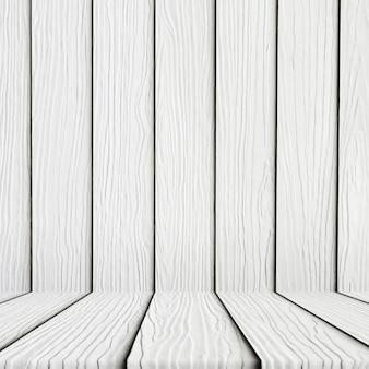 Puste białe tło drewnianej podłodze