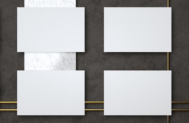 Puste białe wizytówki elegancki nowoczesny szablon