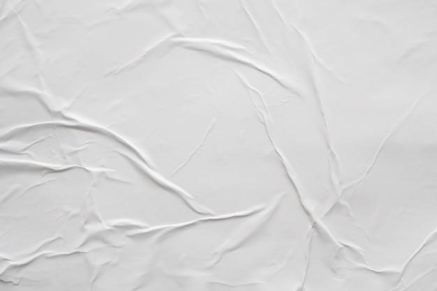 Puste białe zmięty i pomarszczony papier tekstura tło plakat