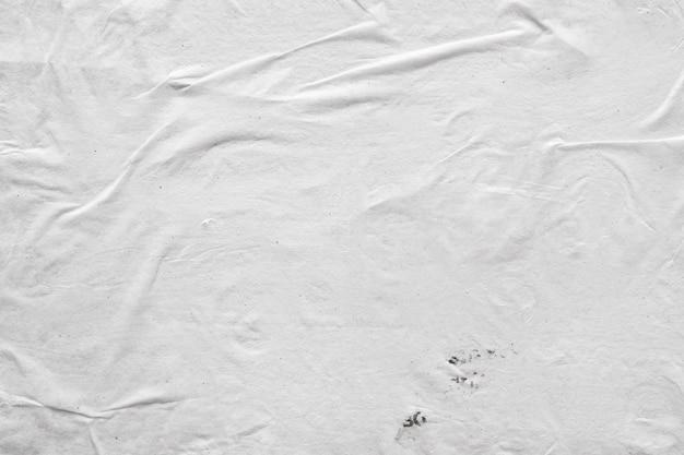 Puste białe zmięty i pomarszczony papier tekstura tło