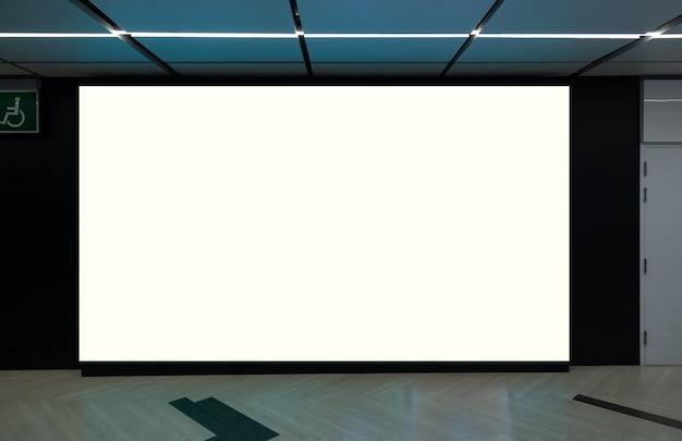 Puste billboard z miejsca na kopię dla wiadomości tekstowej lub treści,