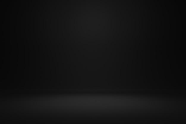 Puste czarne tło i światło punktowe w centrum realistyczne renderowanie 3d.