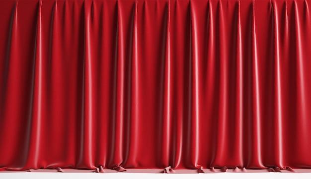 Puste czerwone zasłony teatralne