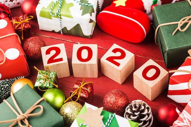 Puste miejsce na napis. pomysł szczęśliwego nowego roku 2020 wakacje.