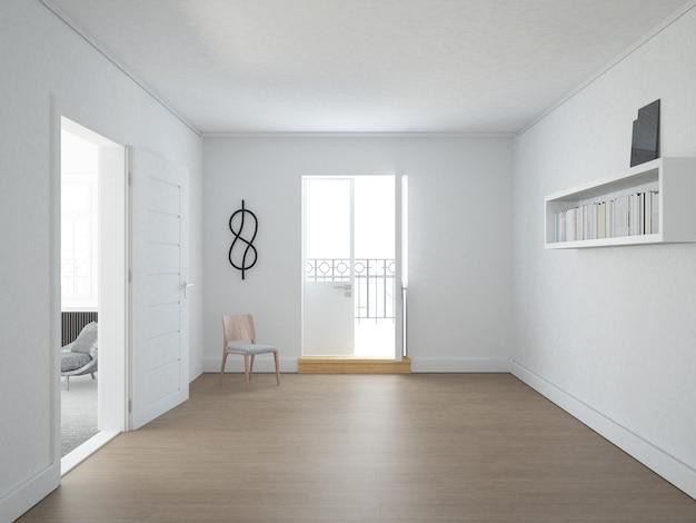 Puste mieszkanie w stylu skandynawskim