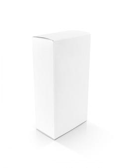 Puste opakowanie kartonowe pudełko z białego papieru do projektowania produktu