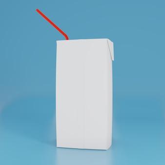 Puste opakowanie kartonowe sok i opakowanie mleka białe realistyczne renderowanie 3d do makiety projektu szablonu