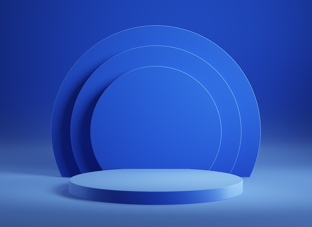 Puste podium produktu, minimalne abstrakcyjne wnętrze