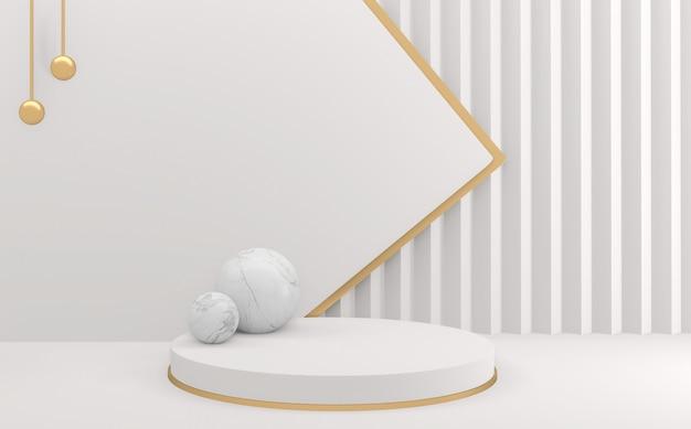 Puste podium wyświetla minimalne geometryczne. renderowanie 3d