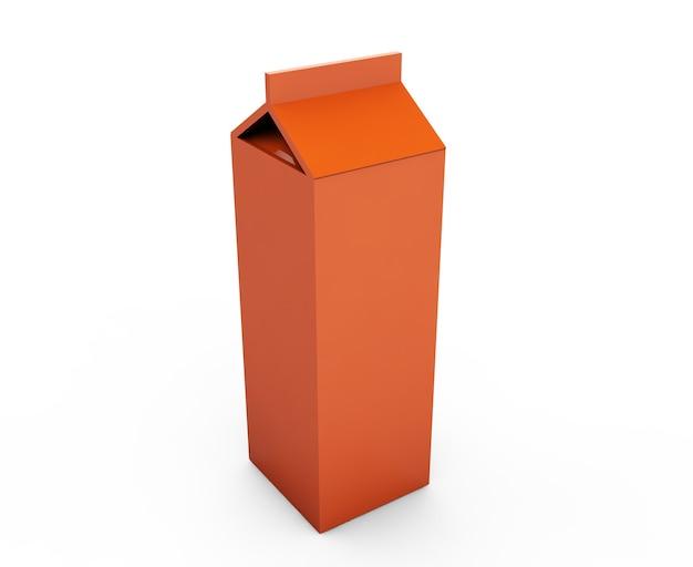 Puste pudełka na sok. makieta opakowania detalicznego. na białym tle. renderowania 3d.