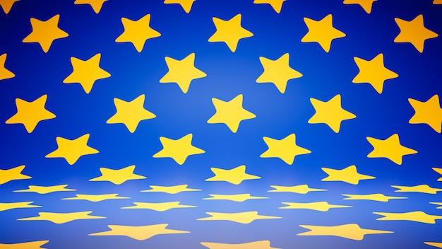 Puste puste kolorowe gwiazdki wzór studio