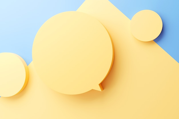Puste puste żółte dymki