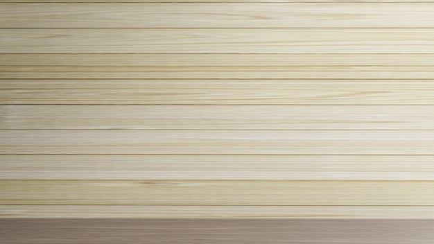 Puste ściany z drewna dla renderowania 3d zawartości tła