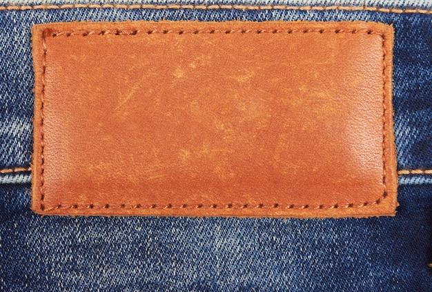Puste skórzane dżinsy jasne etykiety
