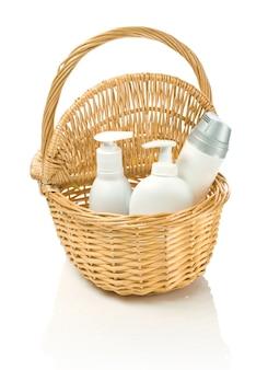 Puste środki czyszczące do pielęgnacji skóry w busku