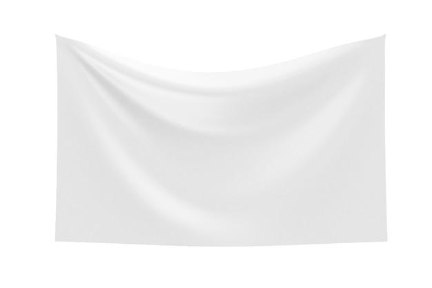 Puste tkaniny jedwabne białe na białym tle