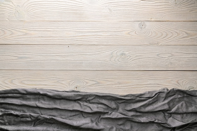 Puste tło pozbawione obrazu z widokiem z góry szorstkiej tkaniny