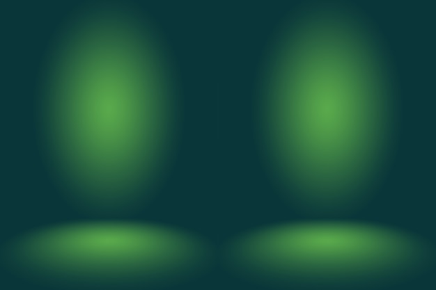 Puste zielone studio dobrze służy jako tło, szablon strony internetowej, ramka