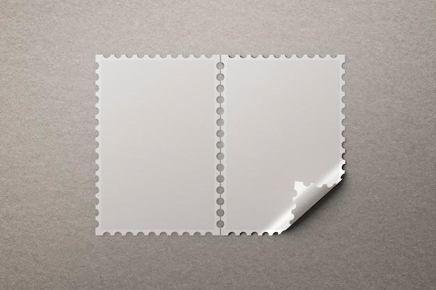 Puste znaczki z miejscem na kopię