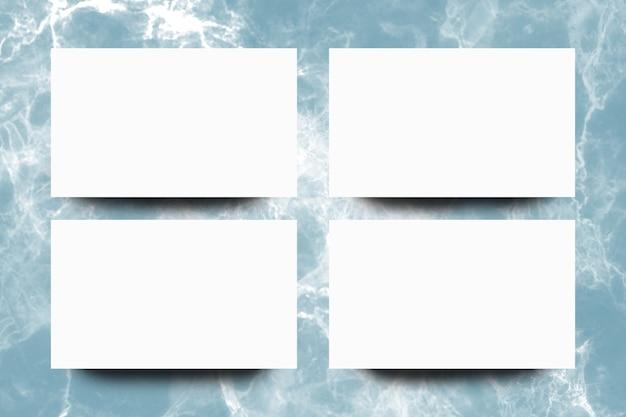 Pusty białego papieru prześcieradło na indygowym marmurowym tle