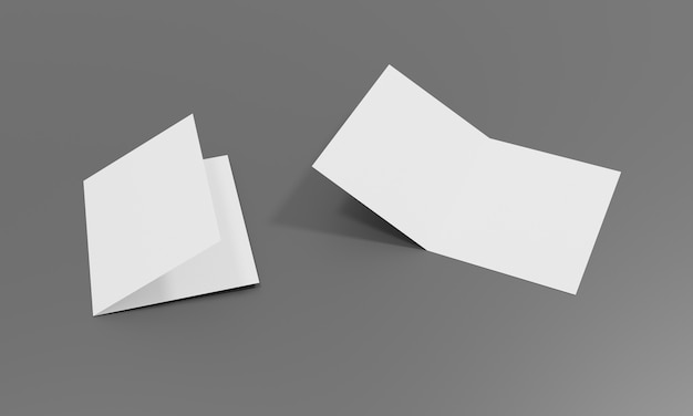 Pusty biały arkusz do projektowania makiet i prezentacji