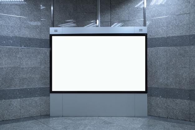 Pusty biały billboard makieta tło, 16: 9