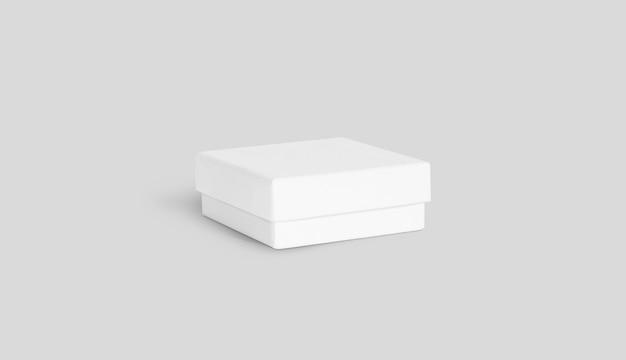 Pusty biały prezenta pudełko odizolowywający