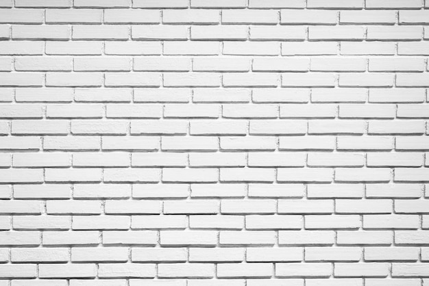 Pusty biały ściana z cegieł tekstury tło