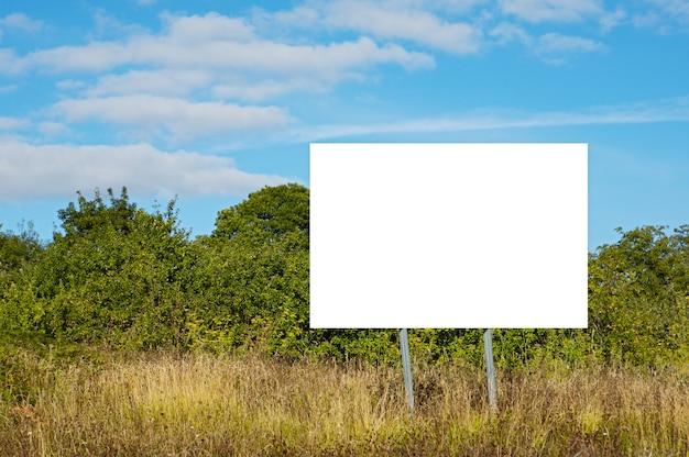 Pusty billboard, aby móc umieścić tekst