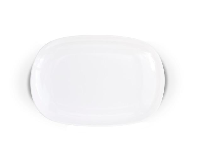 Pusty ceramiczny biały talerz