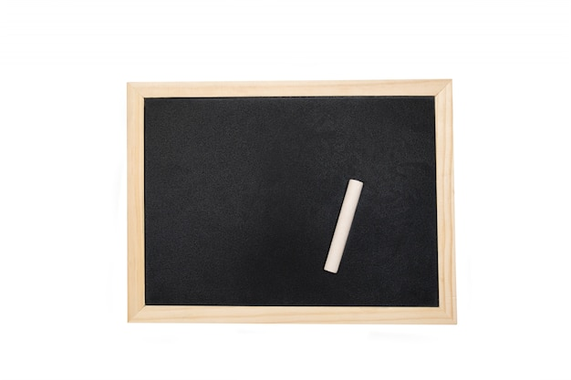 Pusty chalkboard z przestrzenią dla teksta na białym tle.