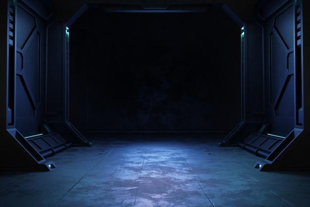 Pusty ciemny pokój, nowoczesny