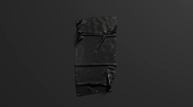 Pusty czarny składany rozciągliwość odizolowywający