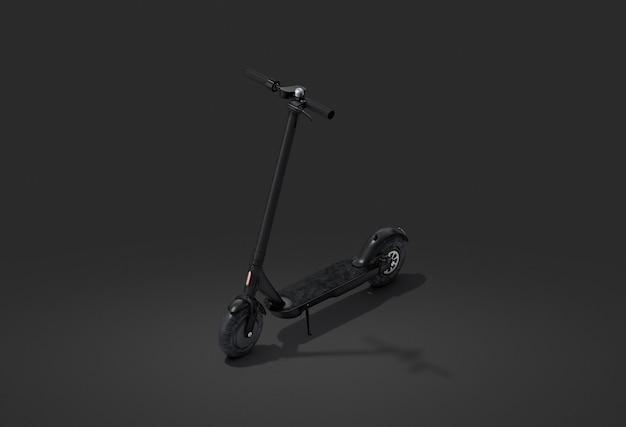 Pusty czarny skuter elektryczny